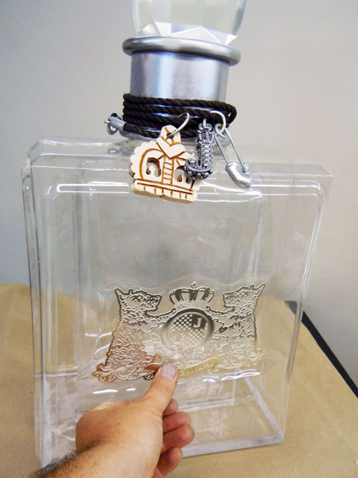 Giant juicy bottle props for Juicy Couture
