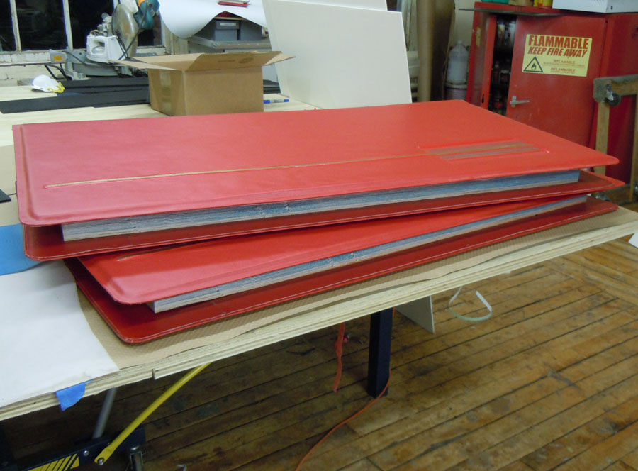 Giant 4' wide check book props for TBS bank commercial