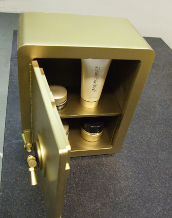 Cosmetics safe prop
