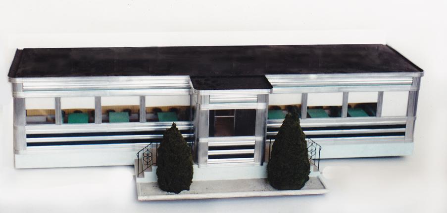 Miniature metal diner model