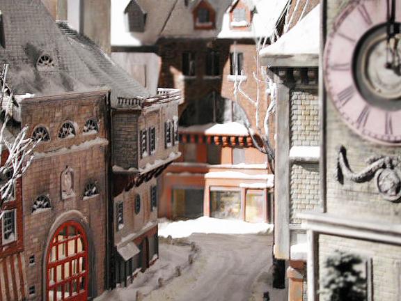 Miniature euro city model