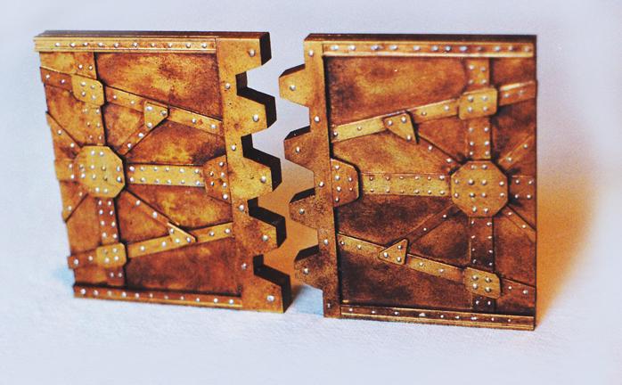 rusty dungeon doors