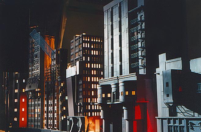 Miniature Gotham city model
