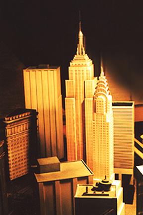 Miniature New York buildings