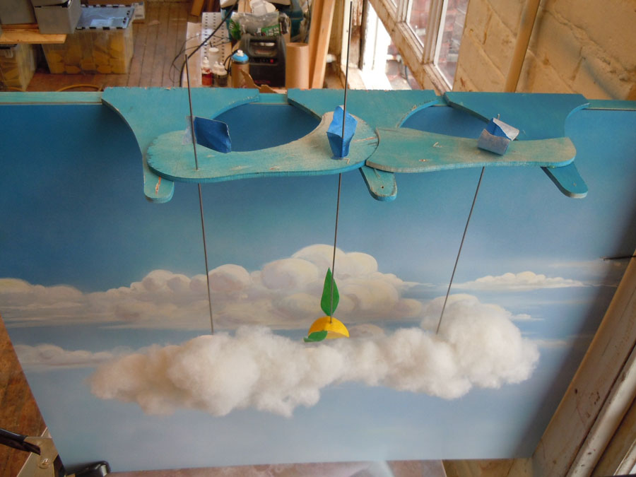 flying wedge diorama