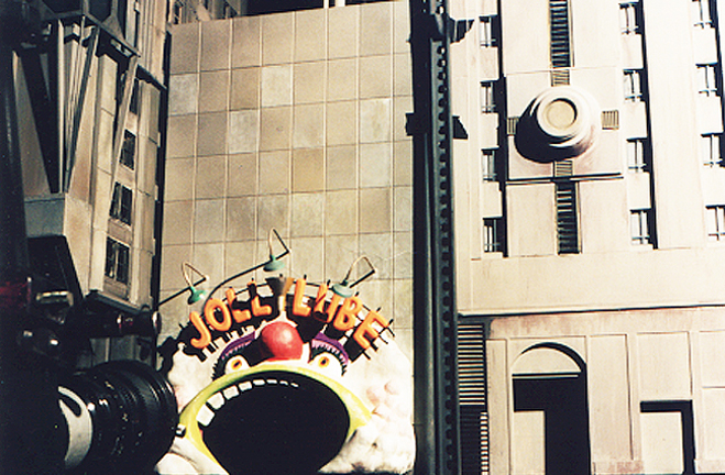 Movie miniature Gotham city model