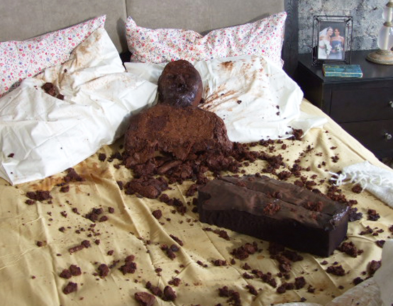 brownie Husband, the morning after
