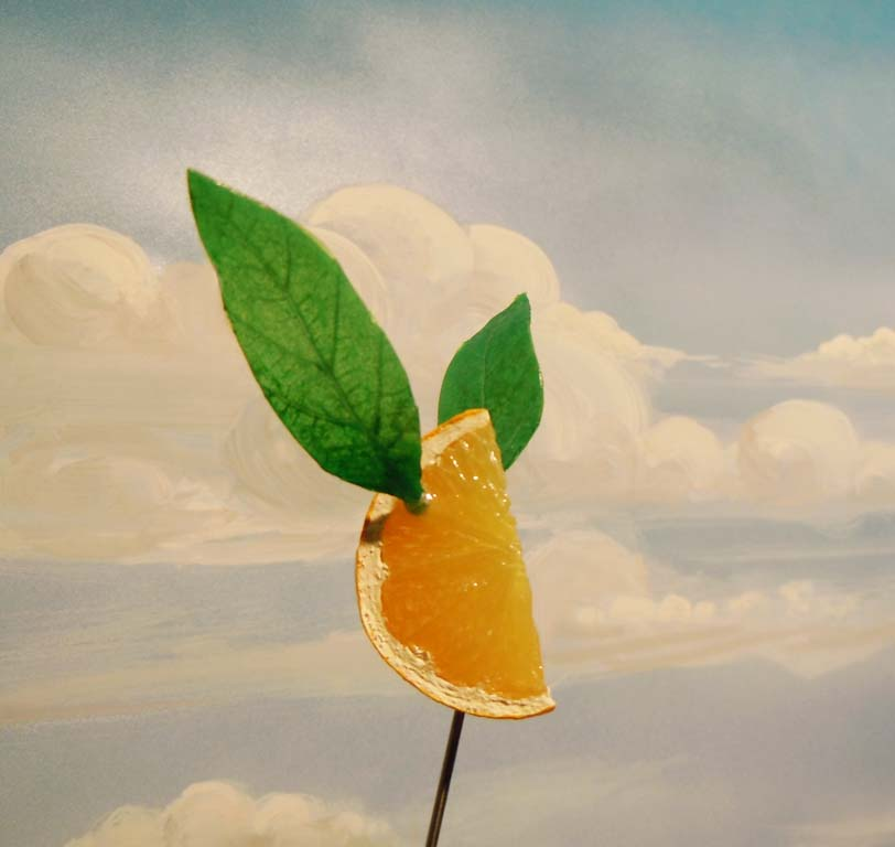 flying lemon wedge