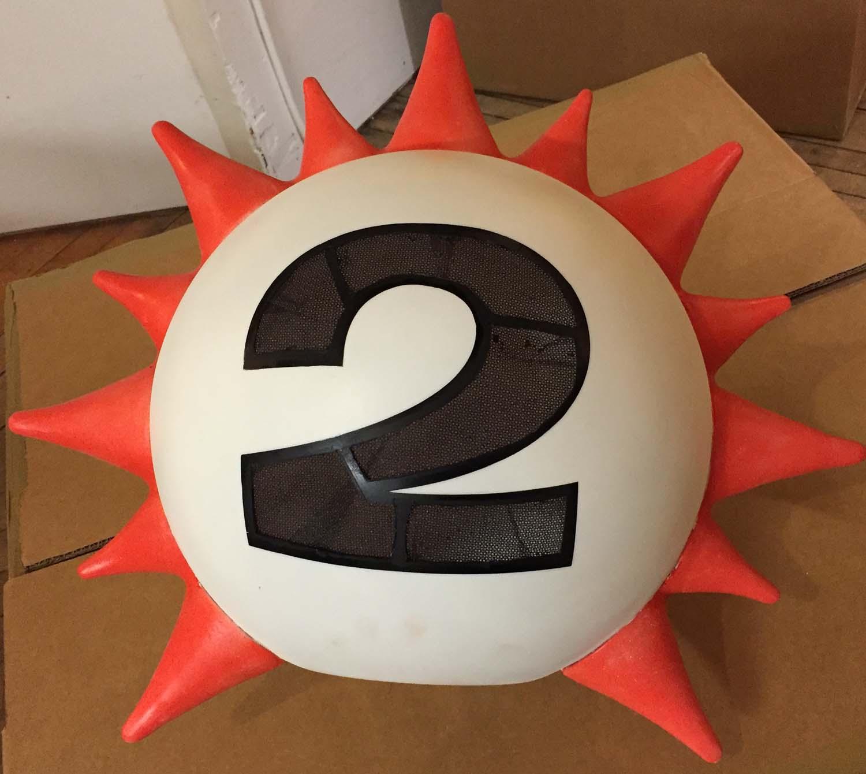 Lottery ball costume head
