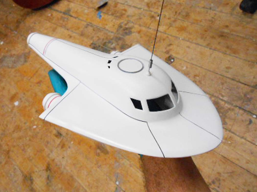 miniature space ship model