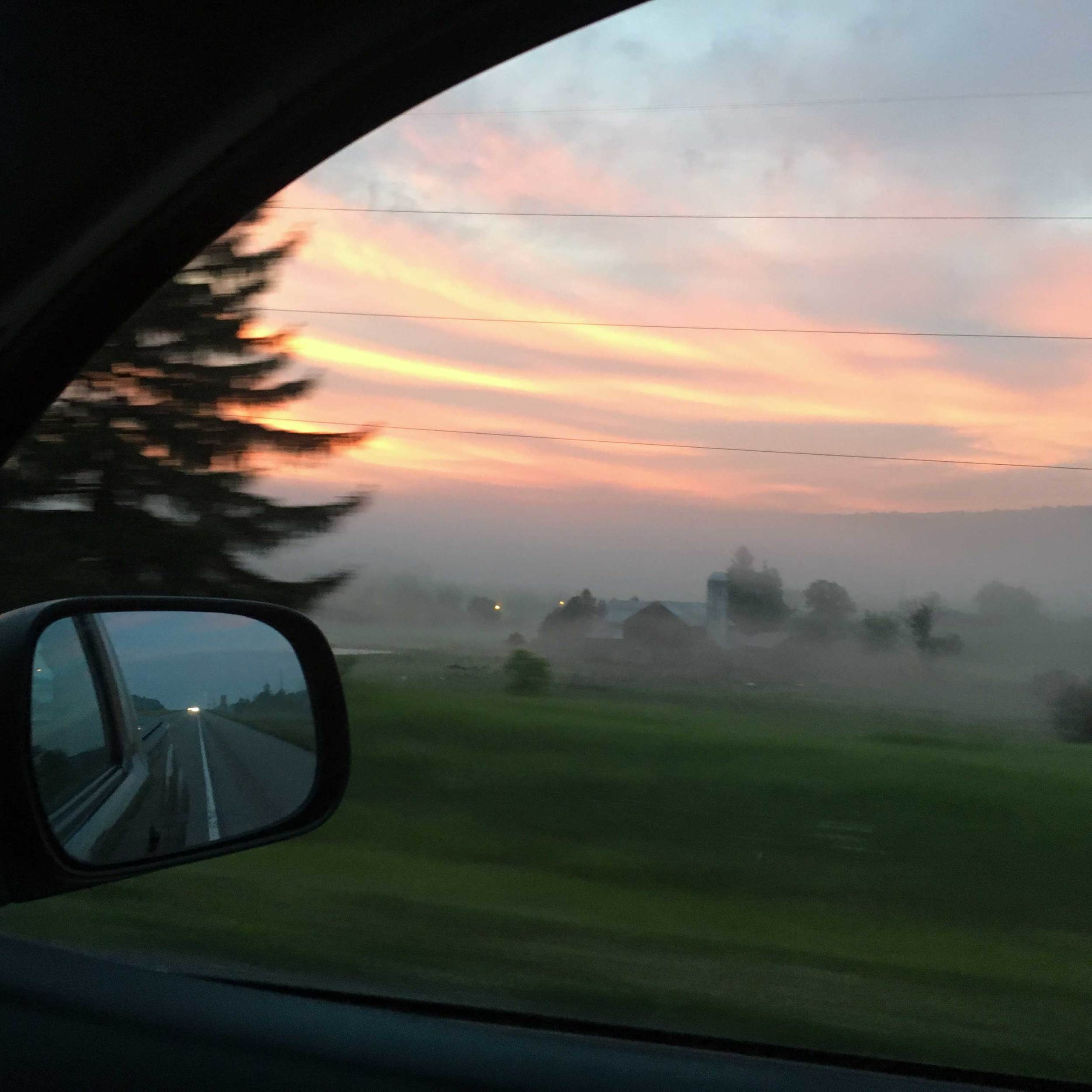 Sunrise near Homer City, PA - Red sky at morning, sailor take warning.