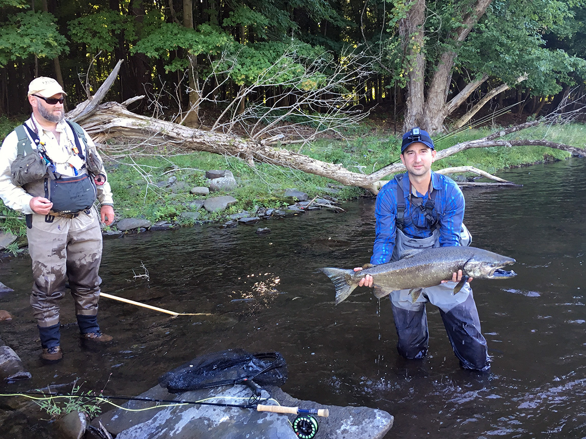 Mike Haines and I after the 40 minute battle with the male Chinook.