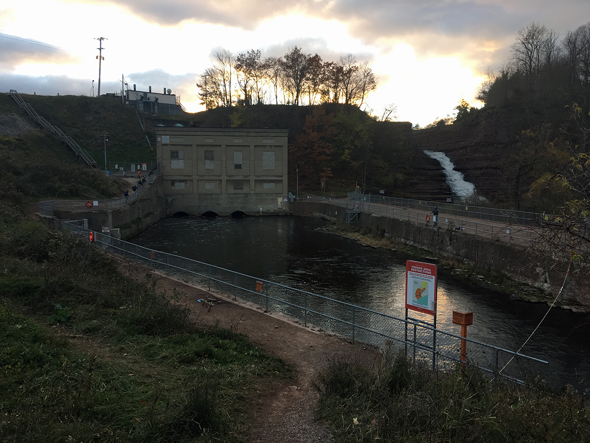 The bottom release area at the Waterport Dam.