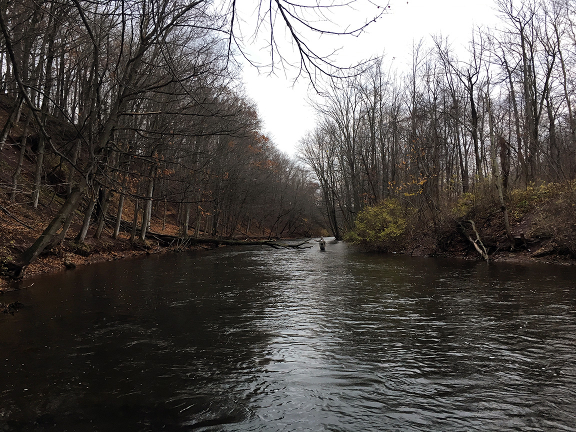 The view on the Oak Orchard River on Saturday afternoon.