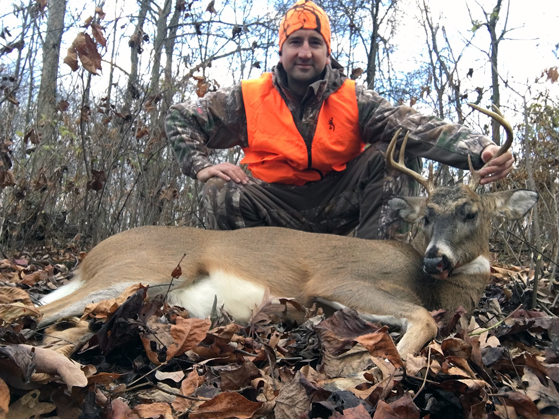 The 8 point buck I harvested on the morning of Saturday, December 3, 2016.
