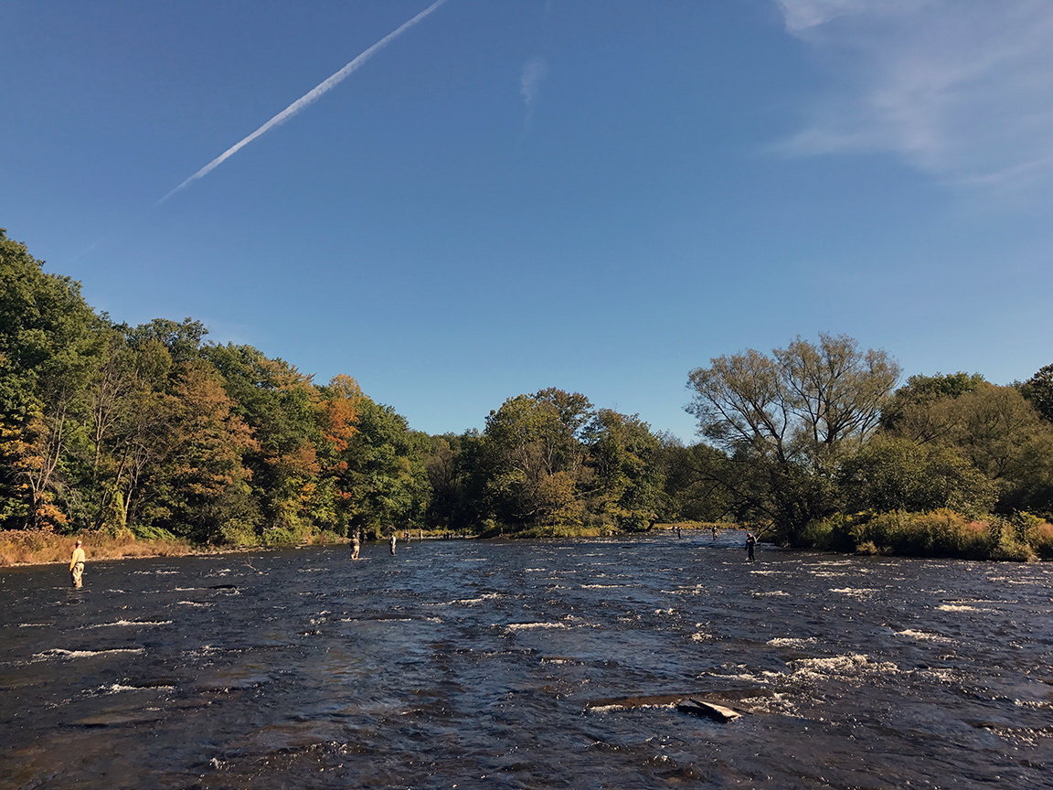 The Salmon River running at 350CFS.