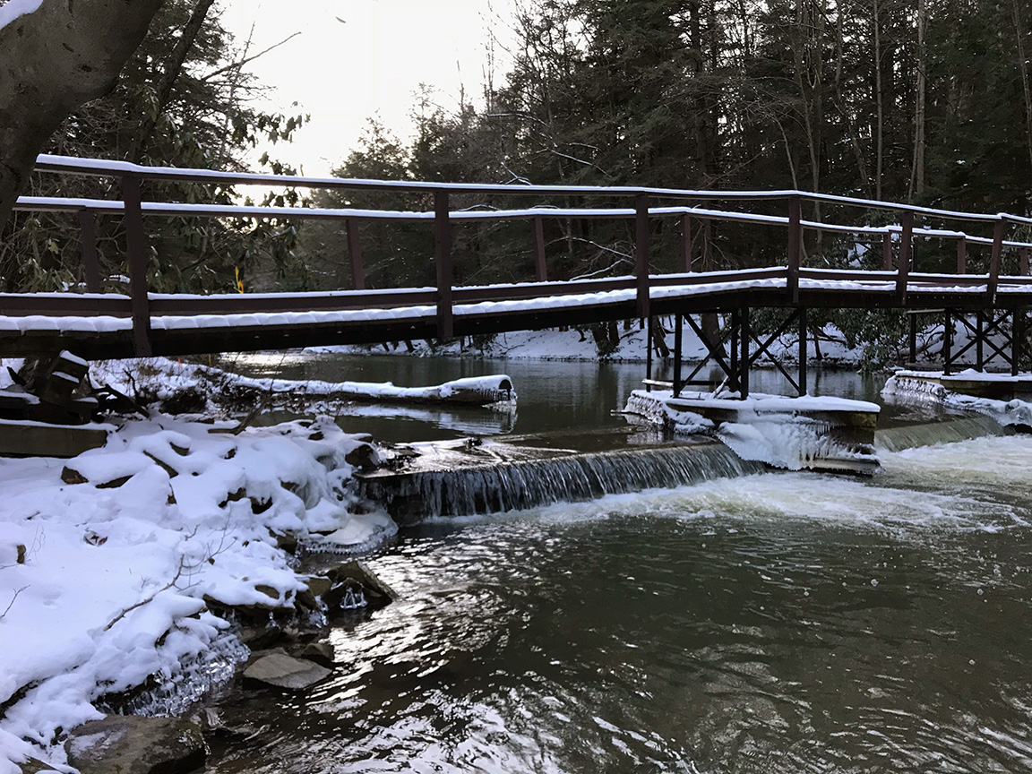 Yellow Creek looking picturesque in the snow.