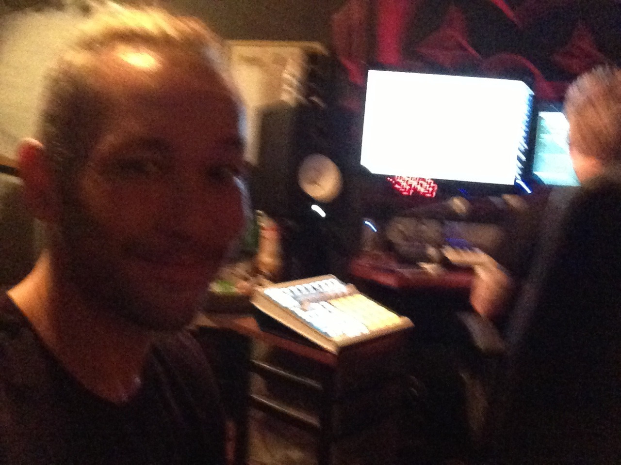 In the studio with remixer/producer F3tto, making a new track coming out… Almost instantly lol!