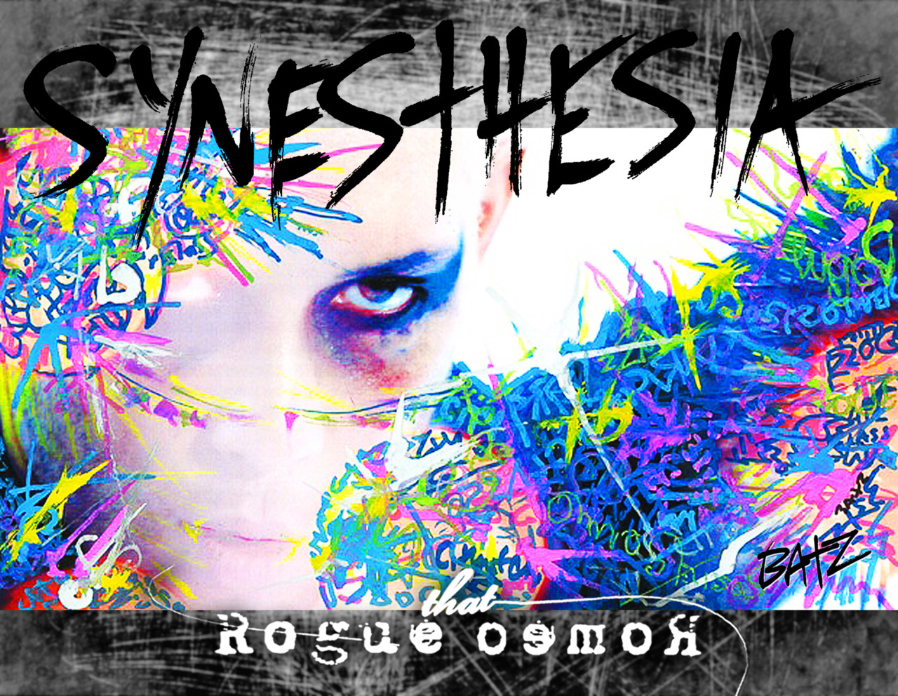 the cover of our Synesthesia calendar!!  graffiti by Stephen Batz Skinner!!