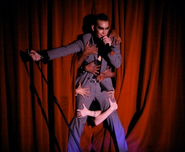 my first performance as That Rogue Romeo at the Highlands singing Can't Help Myself!