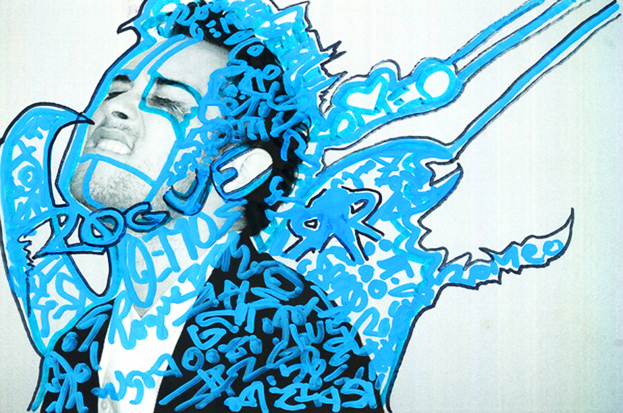 original artwork by stephen Batz skinner for the collaboration calendar, Synesthesia! photo by marc cartwright!