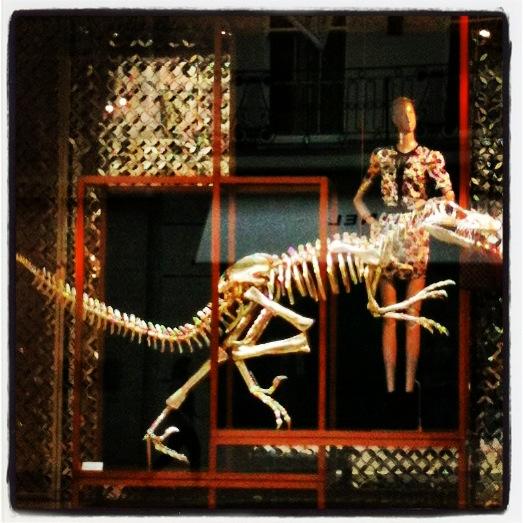 Photo: Regents Street - Louis Vuitton dinosaur window