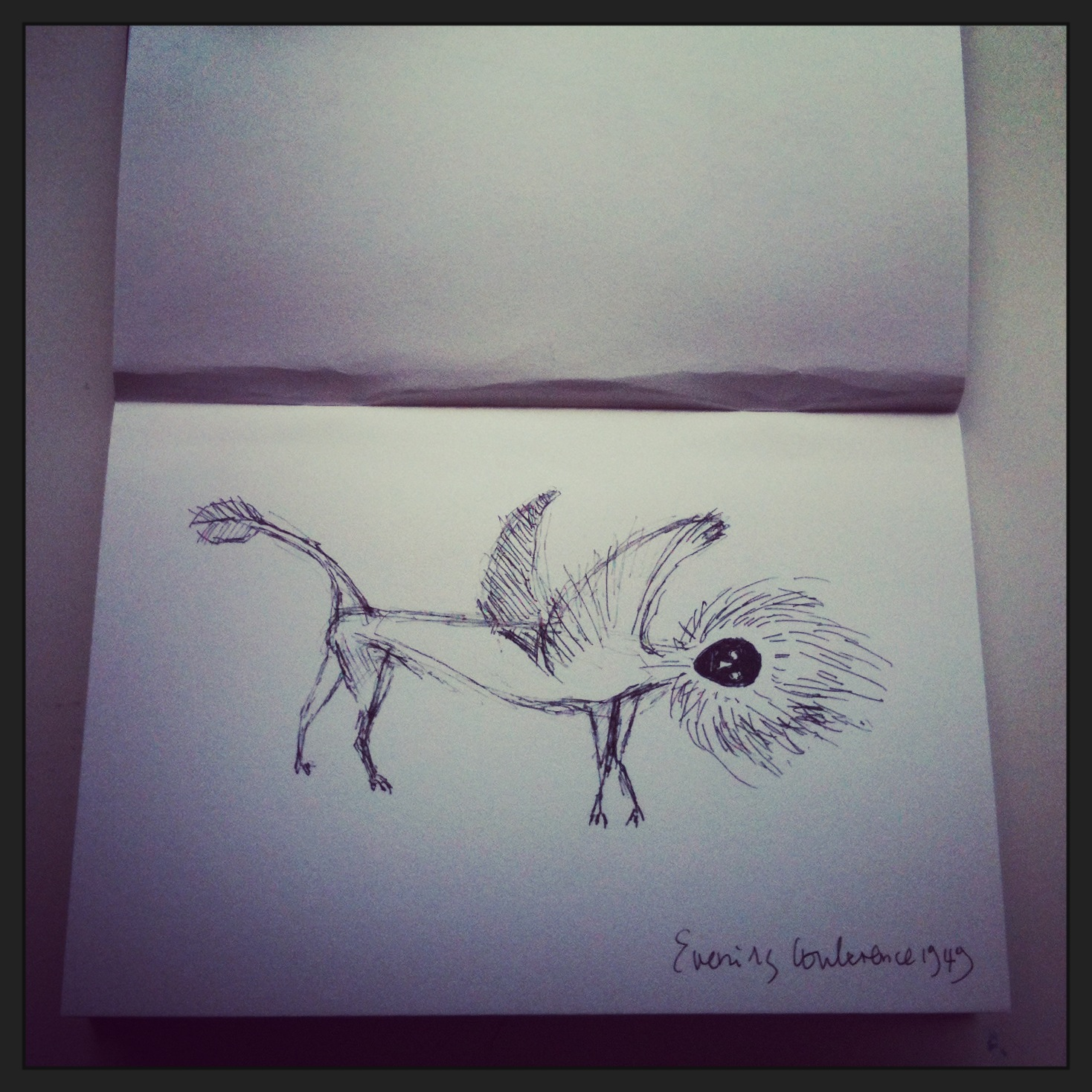 Sketch: Leonora Carrington, Tate Liverpool, 2015