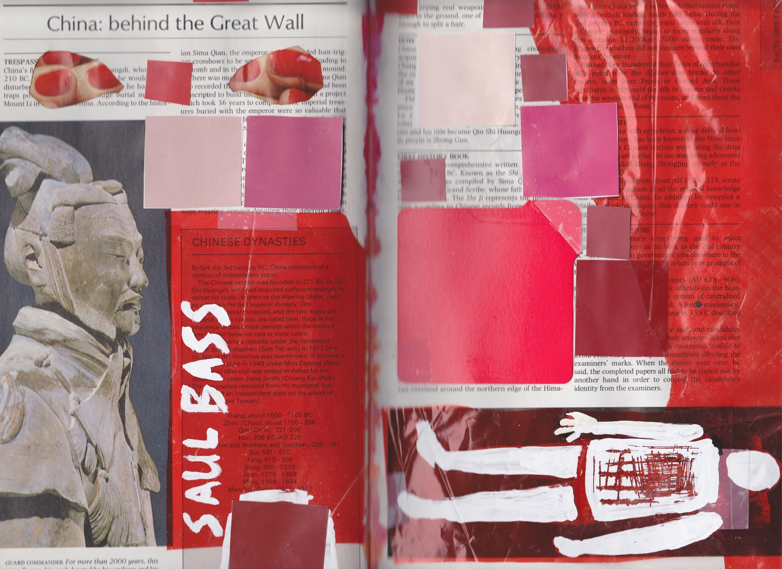 Altered Book (Reader's Digest Book of Facts) - collage & Tippex