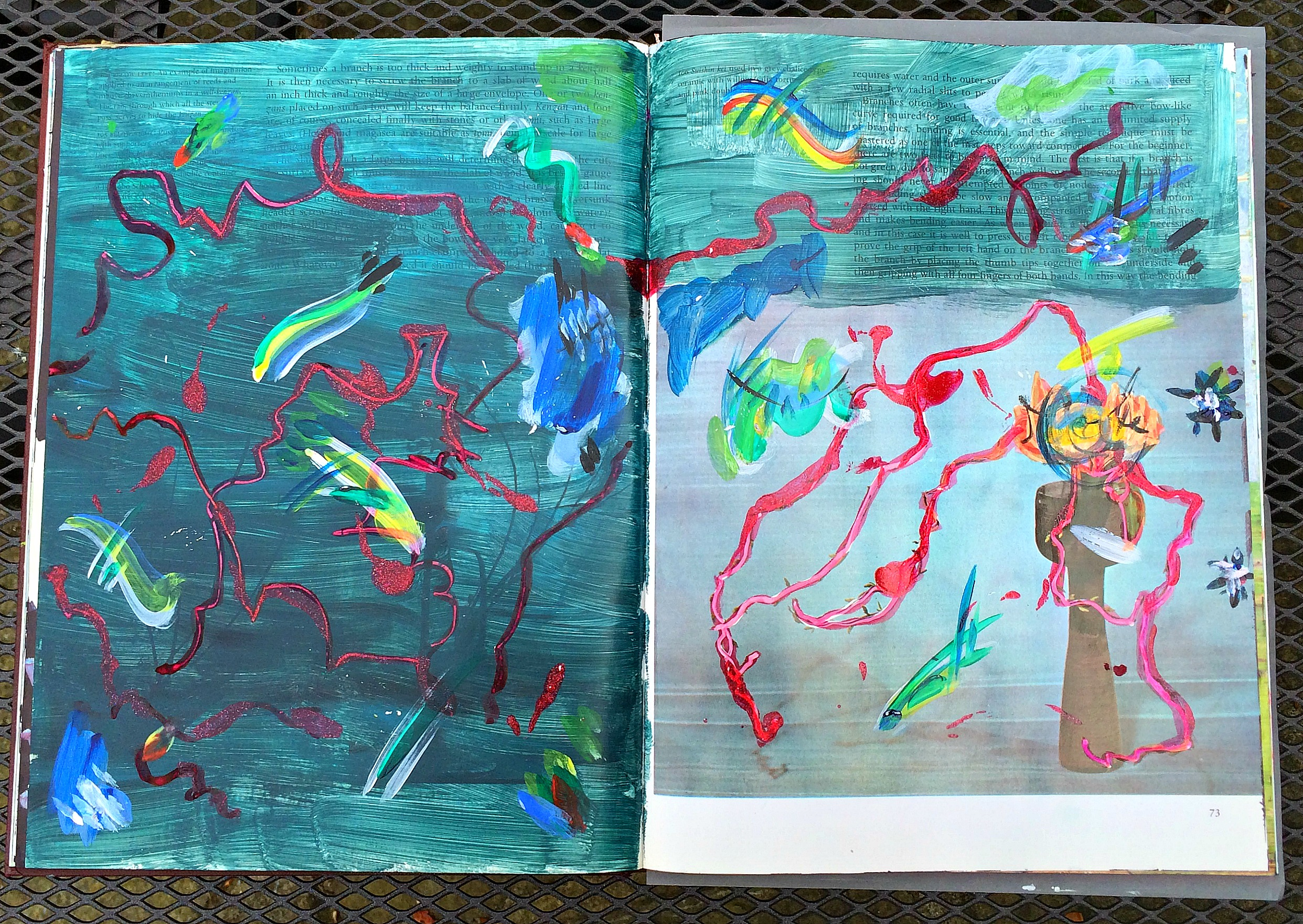 Altered Book (Japanese Flower Arranging): responsive seascape