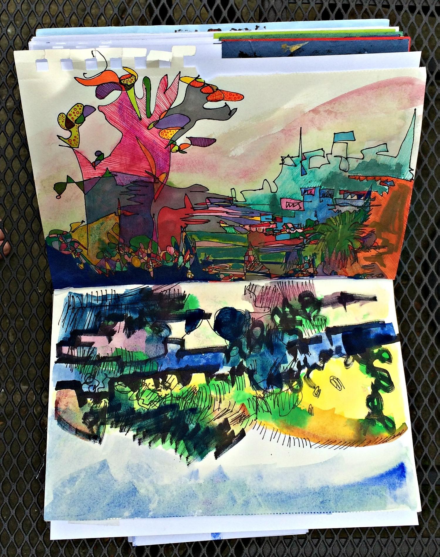 Sketchbook: landscapes in colour
