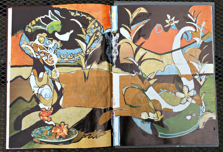 Altered Book (Japanese Flower Arranging): found griffon