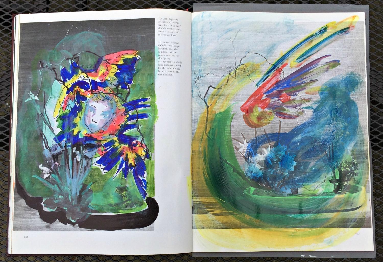 Altered Book (Japanese Flower Arranging): responsive landscape