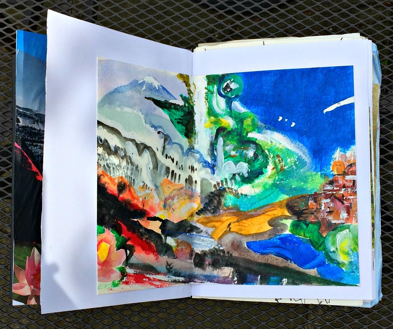 Sketchbook: dreamscape, acrylic