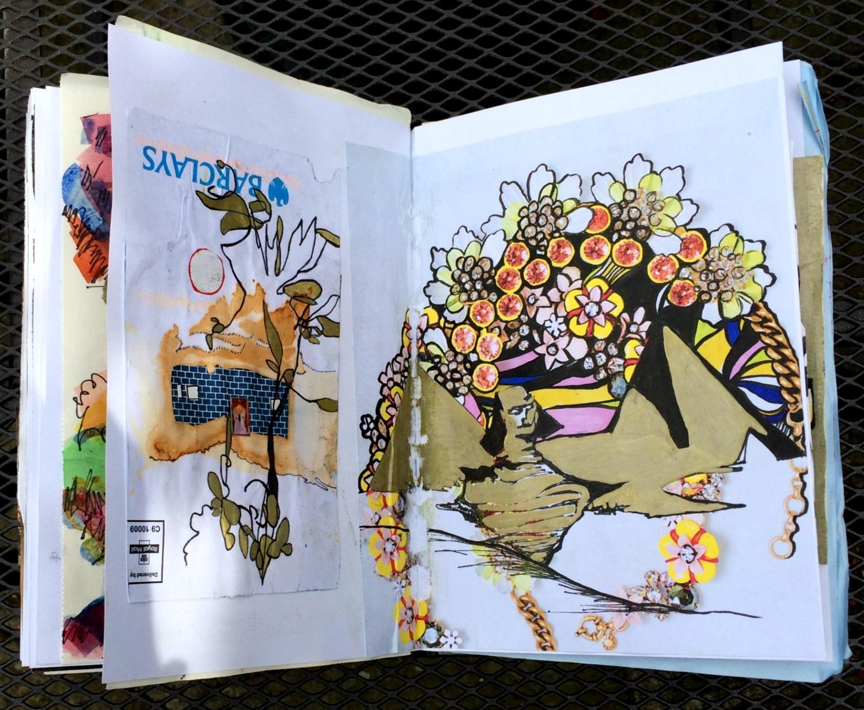 Sketchbook: surreal landscape doodles