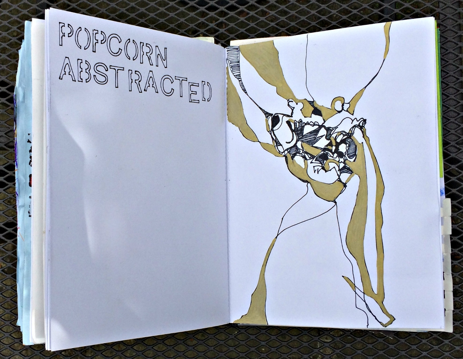 Sketchbook: popcorn as abstract inspiration