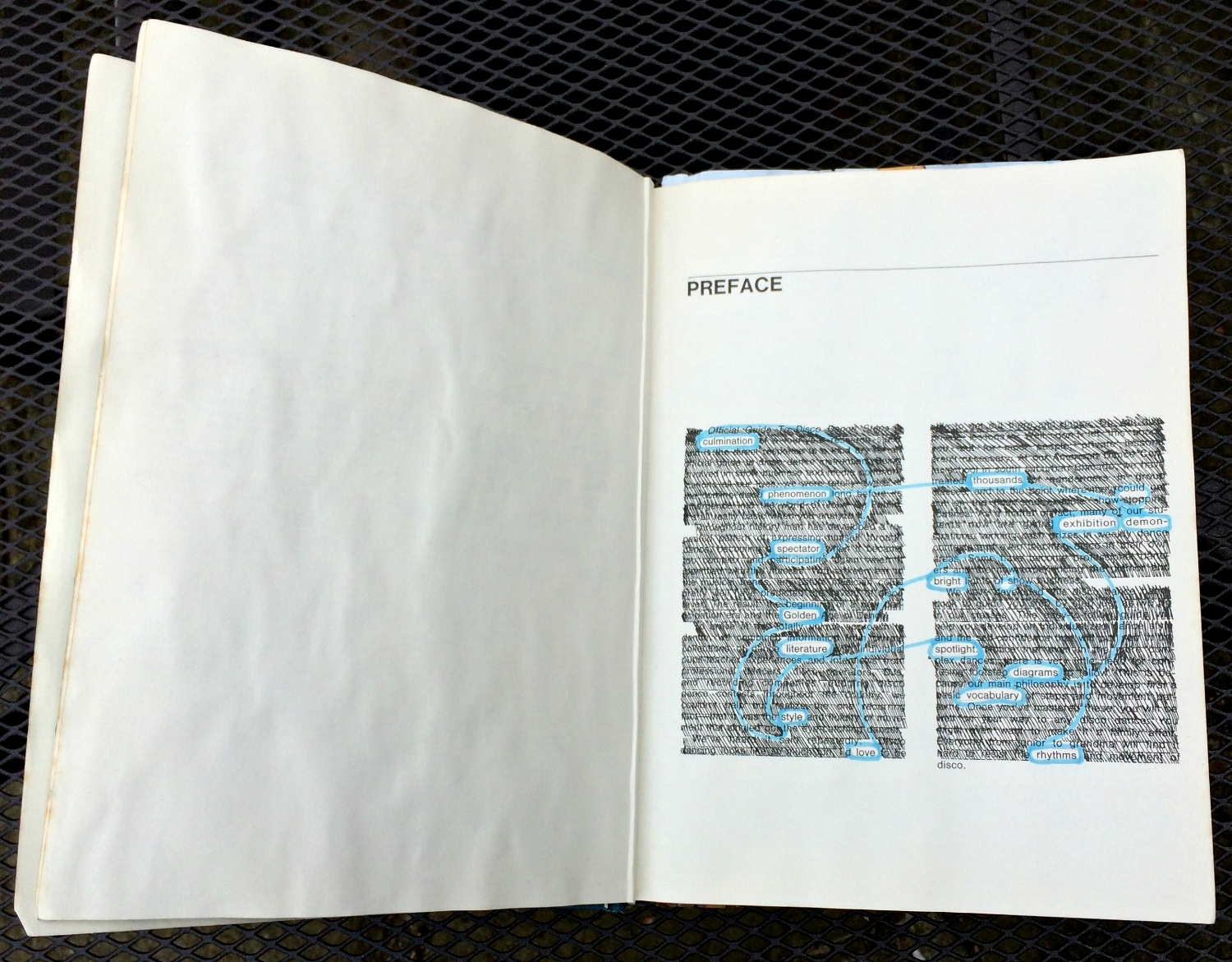 Altered Book (Disco Dance Moves): creative blackout