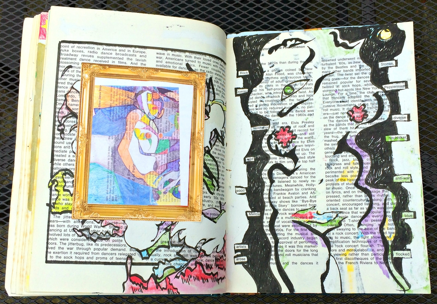 Altered Book (Disco Dance Moves): details, random abstracts