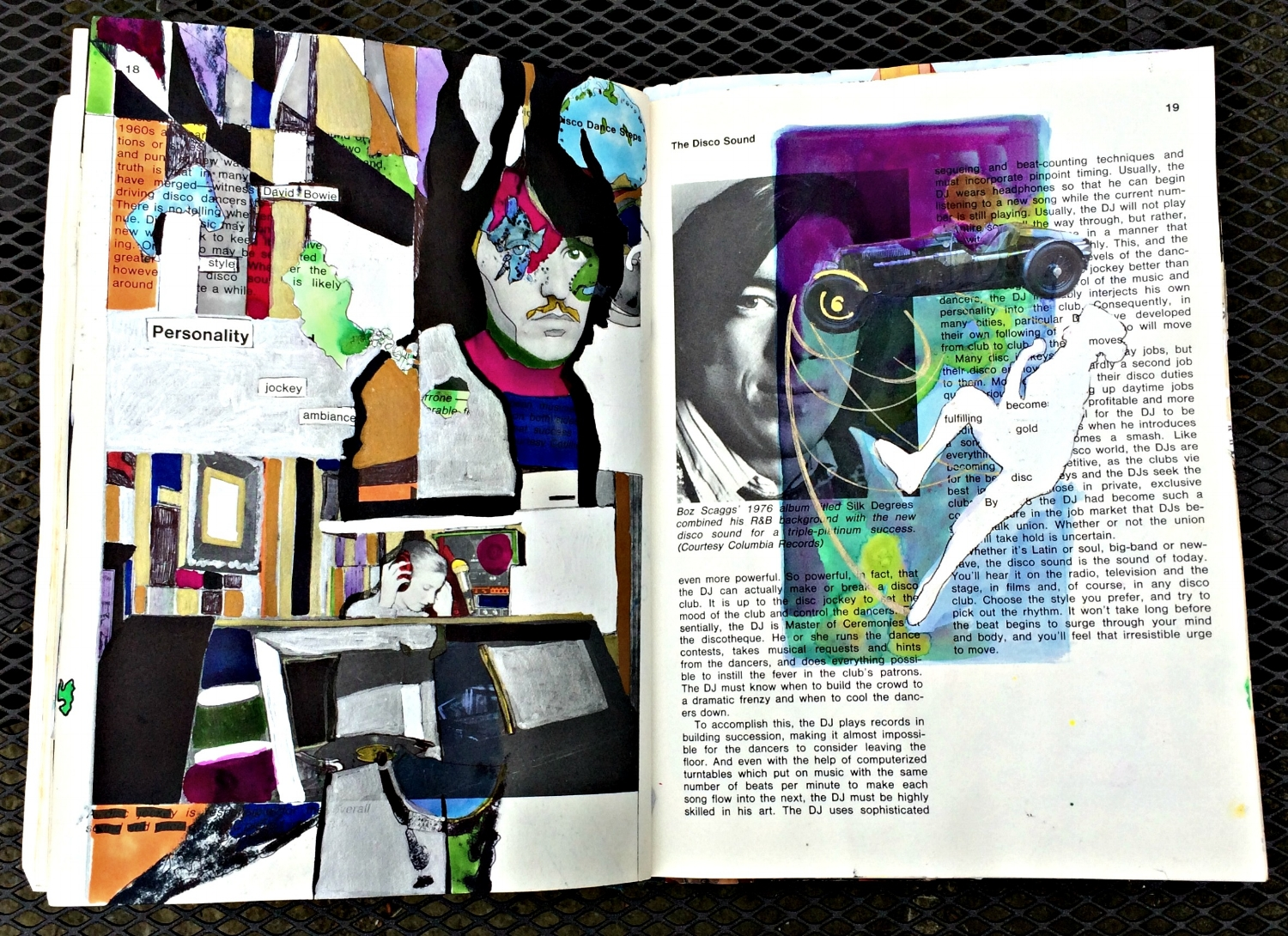 Altered Book (Disco Dance Moves): abstracts, whiteouts, etc