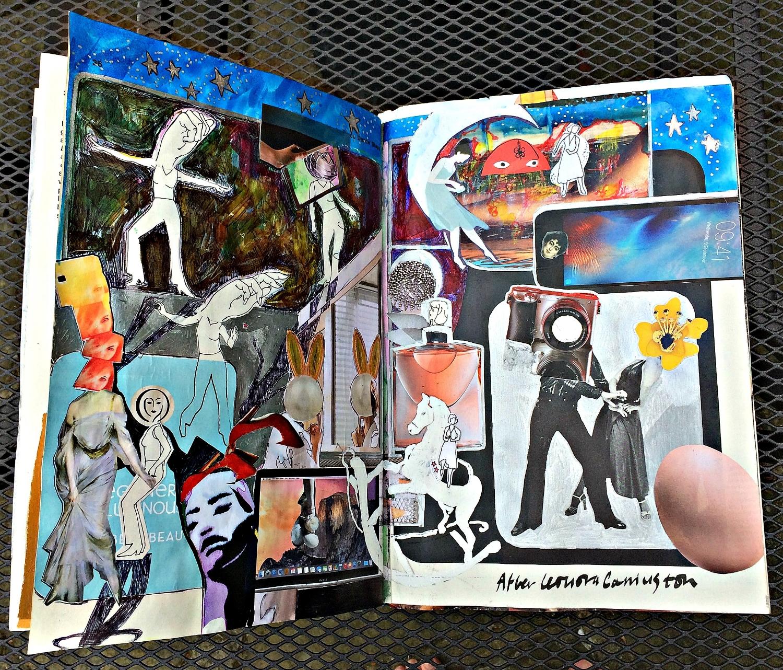 Altered Book (Disco Dance Moves): Leonora Carrington-inspired