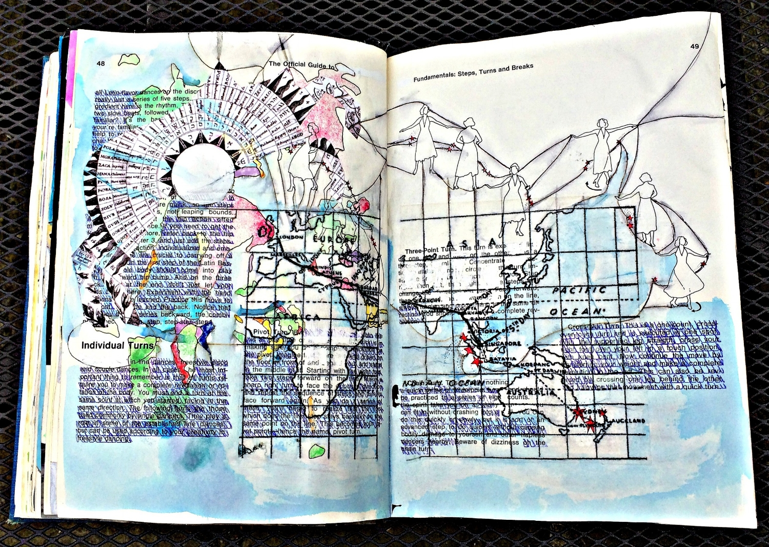 Altered Book (Disco Dance Moves): map, colour, etc