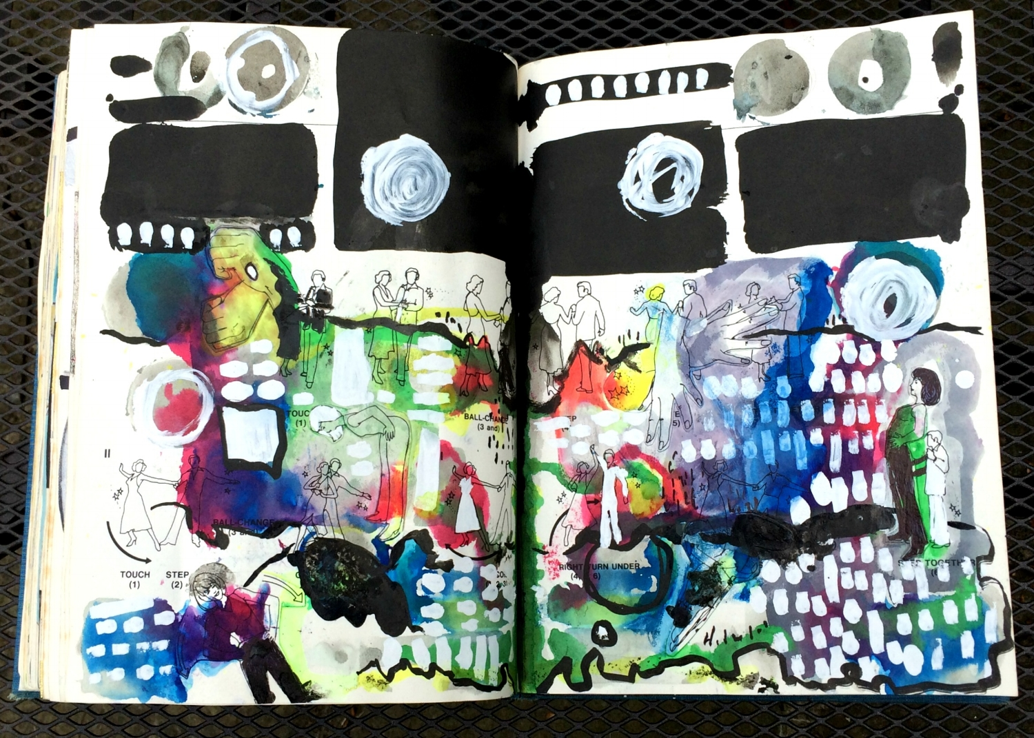 Altered Book (Disco Dance Moves): abstracts
