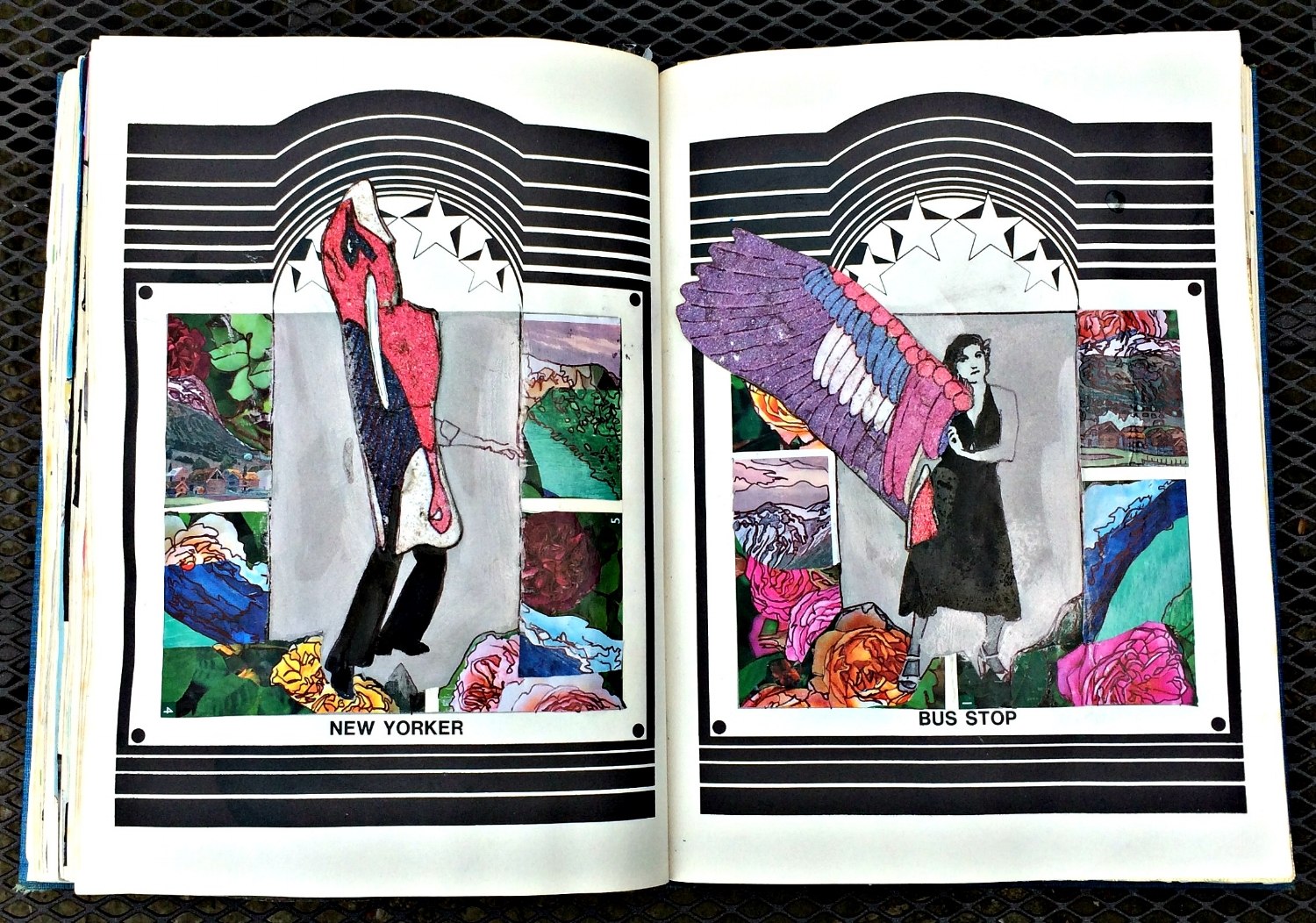 Altered Book (Disco Dance Moves): found objects