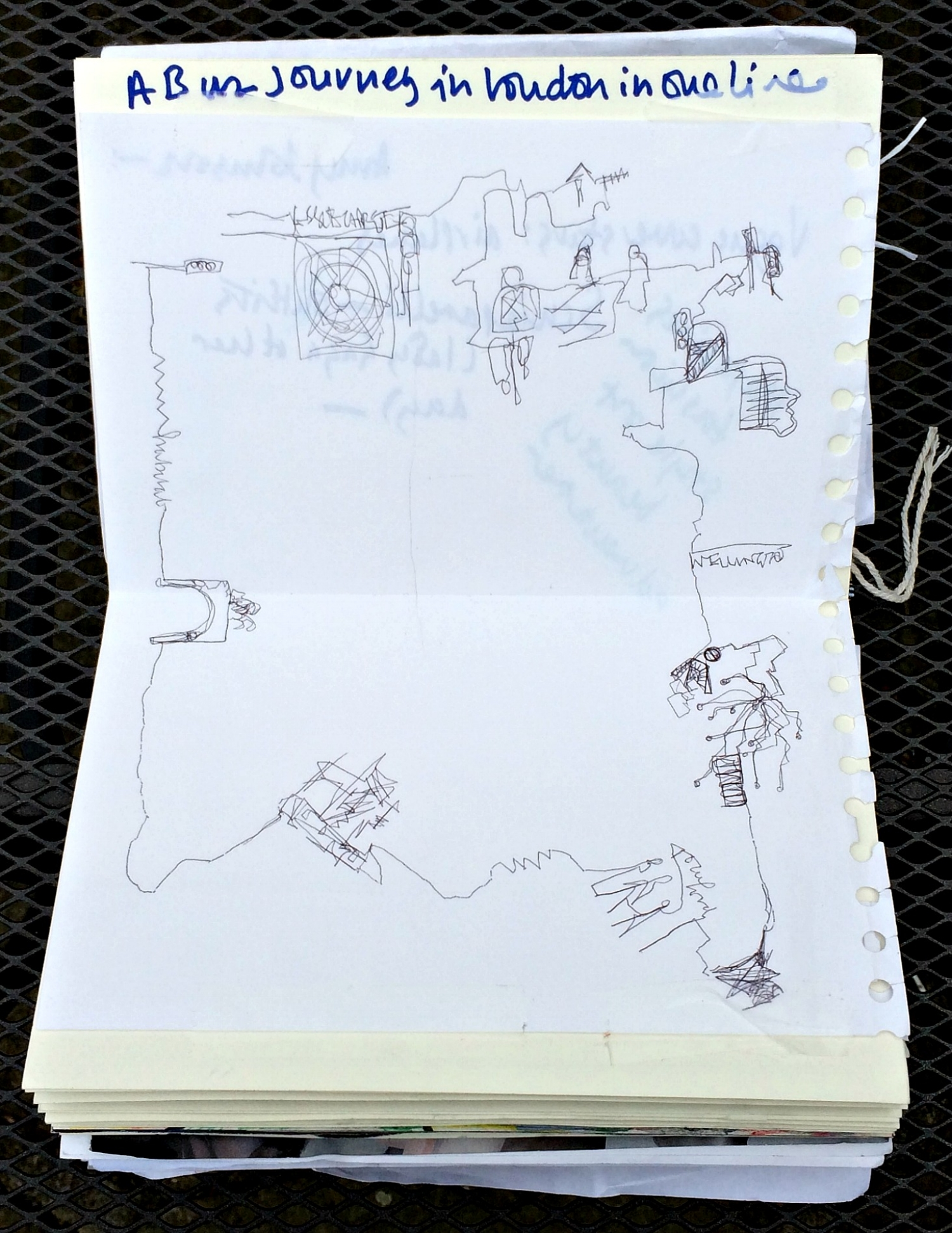 Altered Book (Disco Dance Moves): bus journey in one line