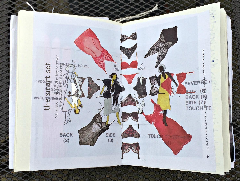 Sketchbook: illustration on magazine page