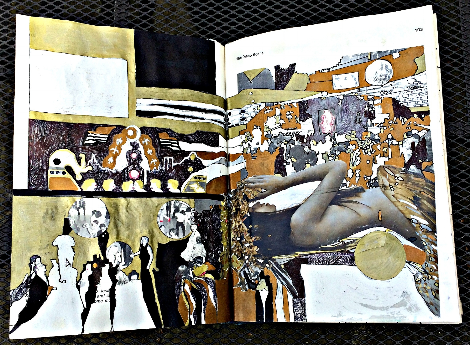 Altered Book (Disco Dance Moves): page shapes