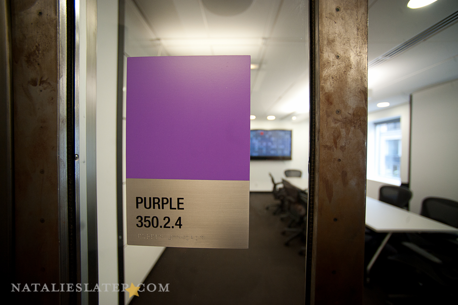 They label their conference rooms with pantone colors. Design nerdz, right?