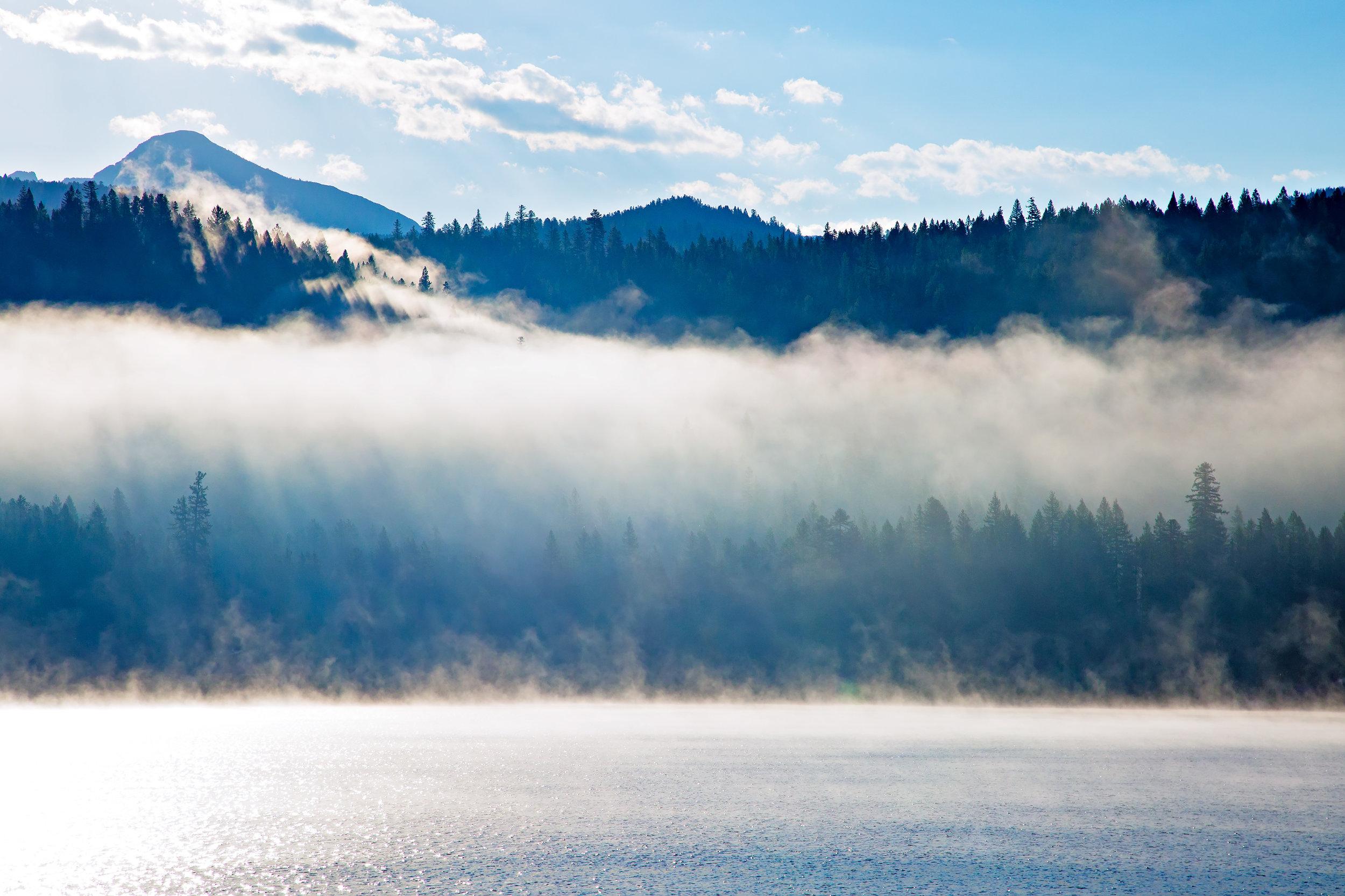 Morning light at Lake Inez, near Seeley Lake, MT.