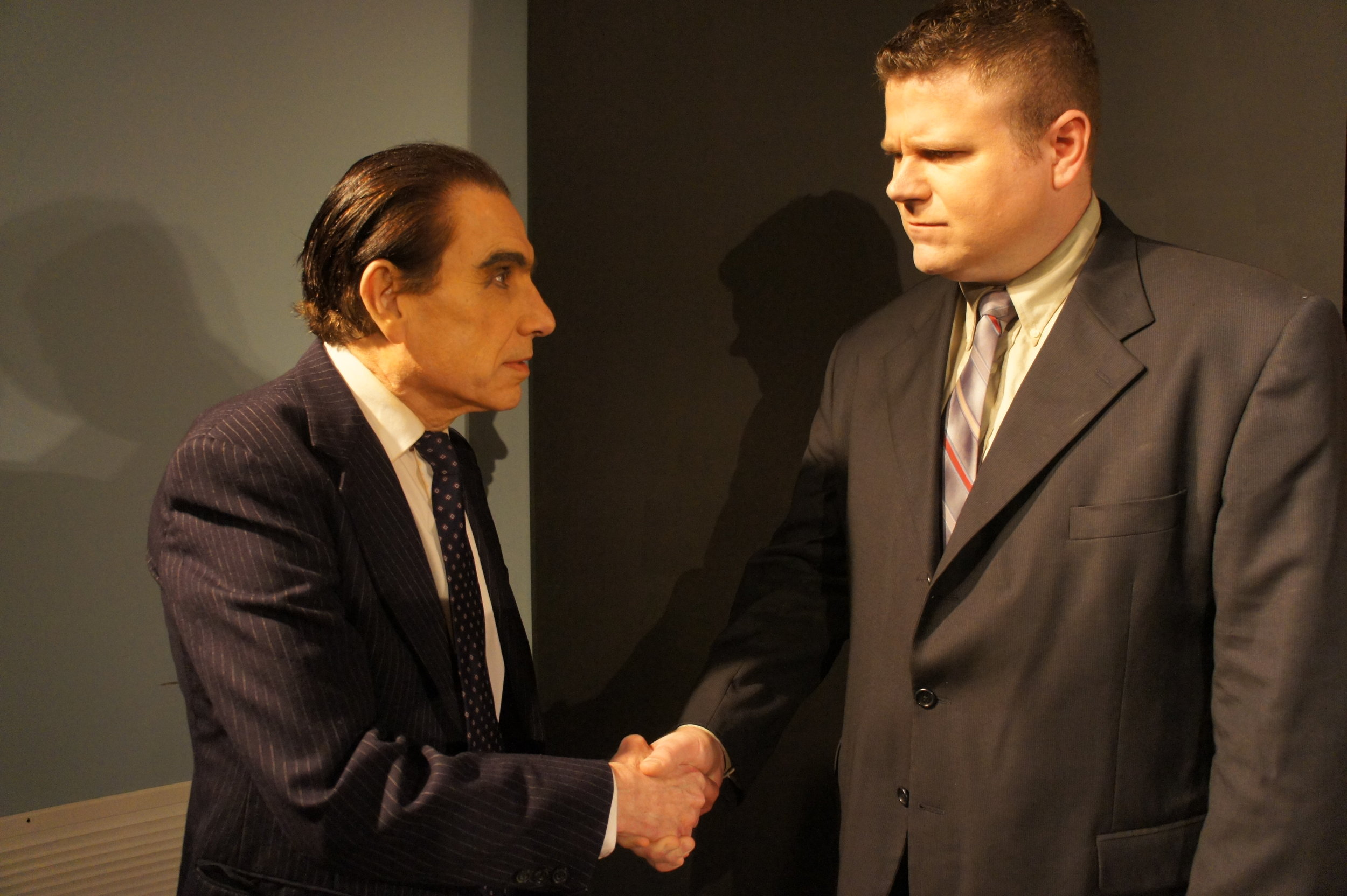 Richard M. Nixon  (Larry Sinak) and Jack Brennan (Alex Beerling)