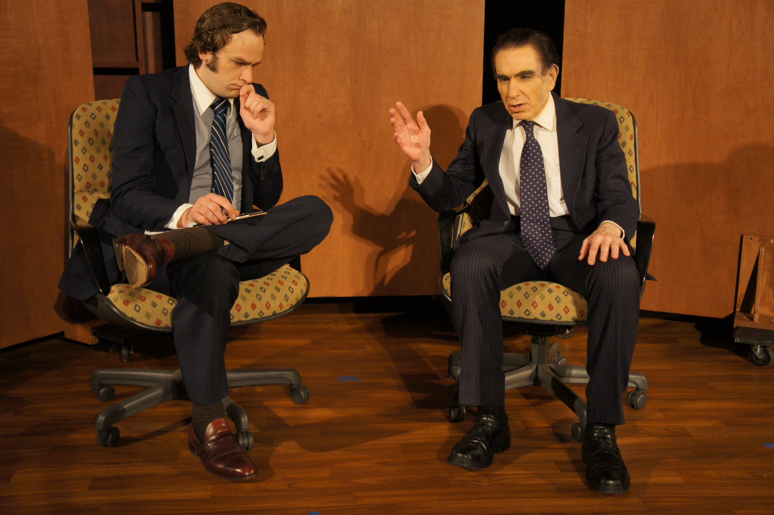 The Frost/Nixon Interview with Sean Lundberg as David Frost and Larry Sinak as Richard M. Nixon