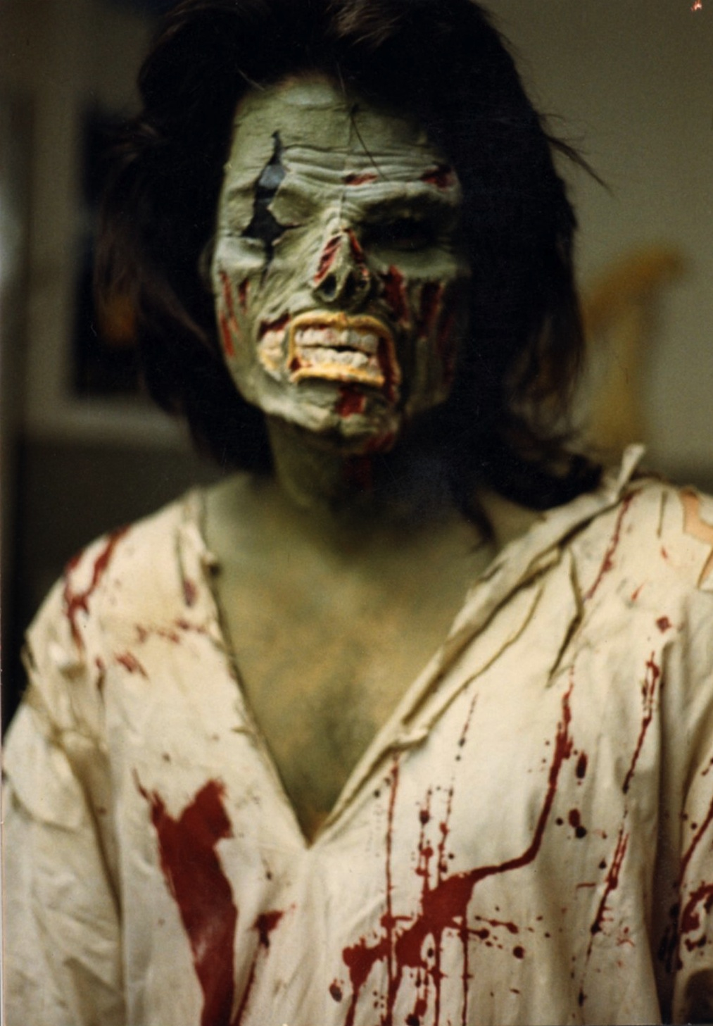 Wyatt in makeup for  the laughing dead